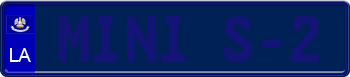 Louisiana Euro Style License Plate 131476