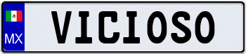 Mexico Euro Style License Plate 000000